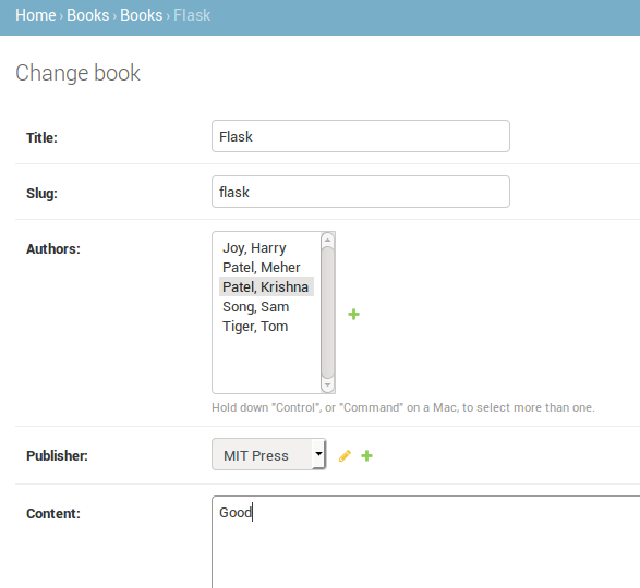 2  Admin page — Django Guide documentation